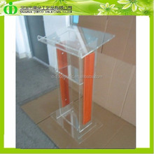 DDL-0002 Trade Assurance Cheap Acrylic Lectern With Wood