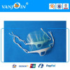 Sanitary Food Industry Restaurant Visual Clear Transparent Reusable Plastic Smile Face Mask With Anti-fog Shield