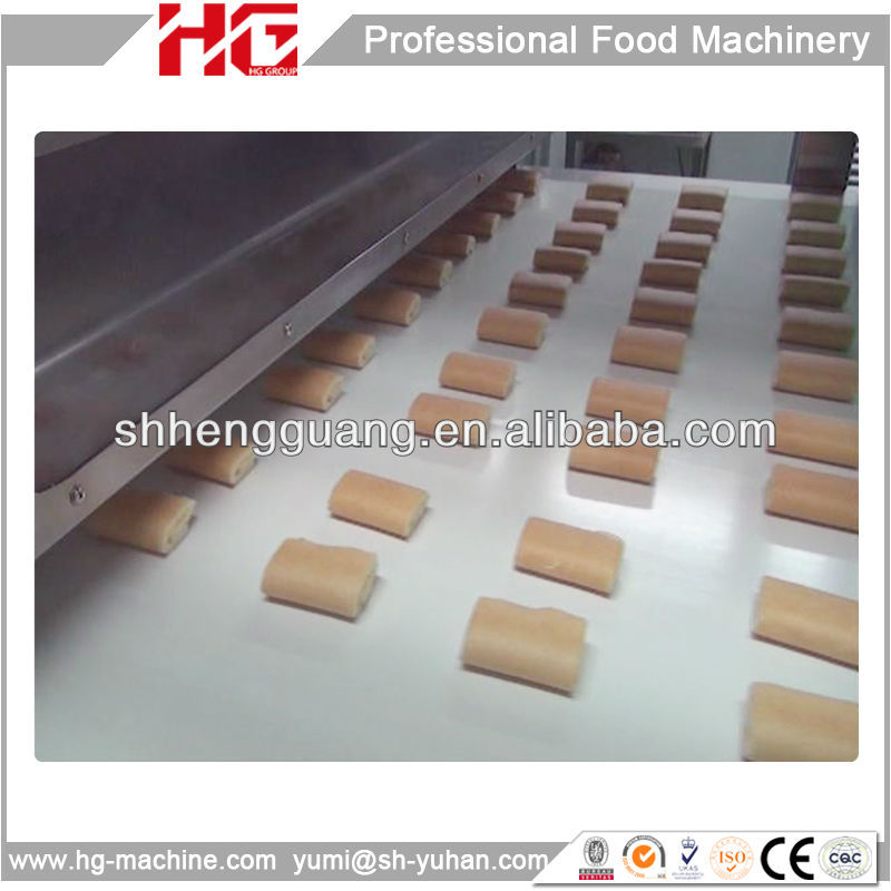 Gas Oven Cream Filling swiss roll cake making machine