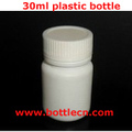pharmaceutical 30ml plastic bottle with childproof cap
