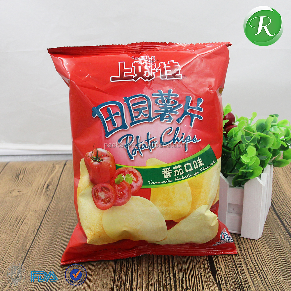 Custom printed potato chips bags/plastic potato chips package