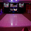 Wedding partyled starlit dance floor led interactive video dance floor display