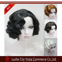 2015 Aliexpress Best Selling Factory Price Top Fashion Stock Brazilian Hair Finger Wave Synthetic Wig
