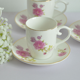 Popular Handmade Flower Gold Rim Tea Cup Set