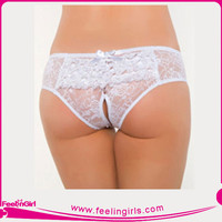 wholesale plus size white lace lady sex panty