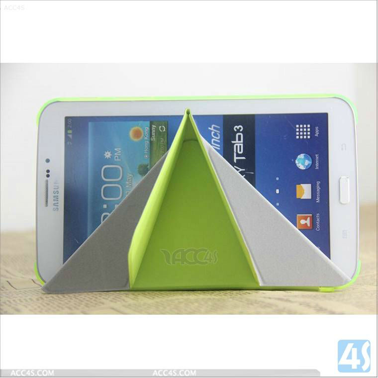 PU+PC Foldable 7 inch Tablet Protective Case Cover for Samsung Tab 3 P3200 P-SAMP3200CASE030