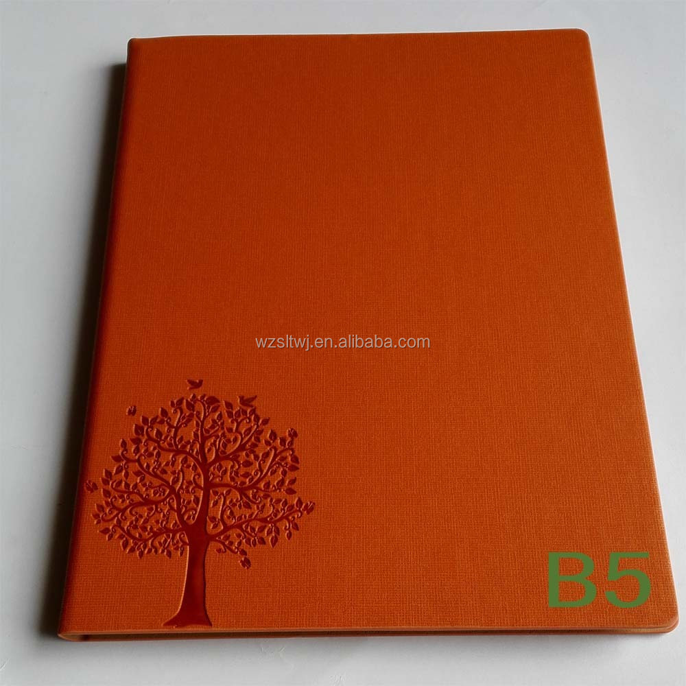 2016 a5 Cheap design pu leather new book cover note book