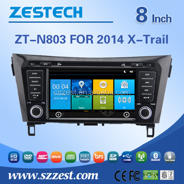 car stereo for Nissan X-Trail Rogue 2014 double din car stereo with GPS RDS 3G BT TV SWC car dvd radio stereo system
