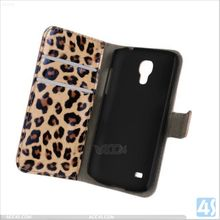 Factory Price Leather Card Holder Case for Samsung Galaxy S4 Mini P-SAMI9190SPCA001