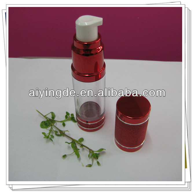 15 ML Red Color Aluminum Airless Bottles with Logo