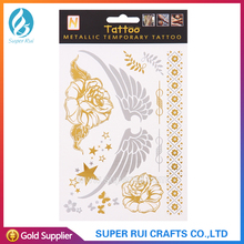 2015 Best design and great quality flash tattoo gold and silver for body art