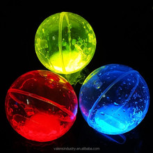 Funny Glow in the Dark Elastic Ball/Glow Boucing Ball for Kid Funny Toys