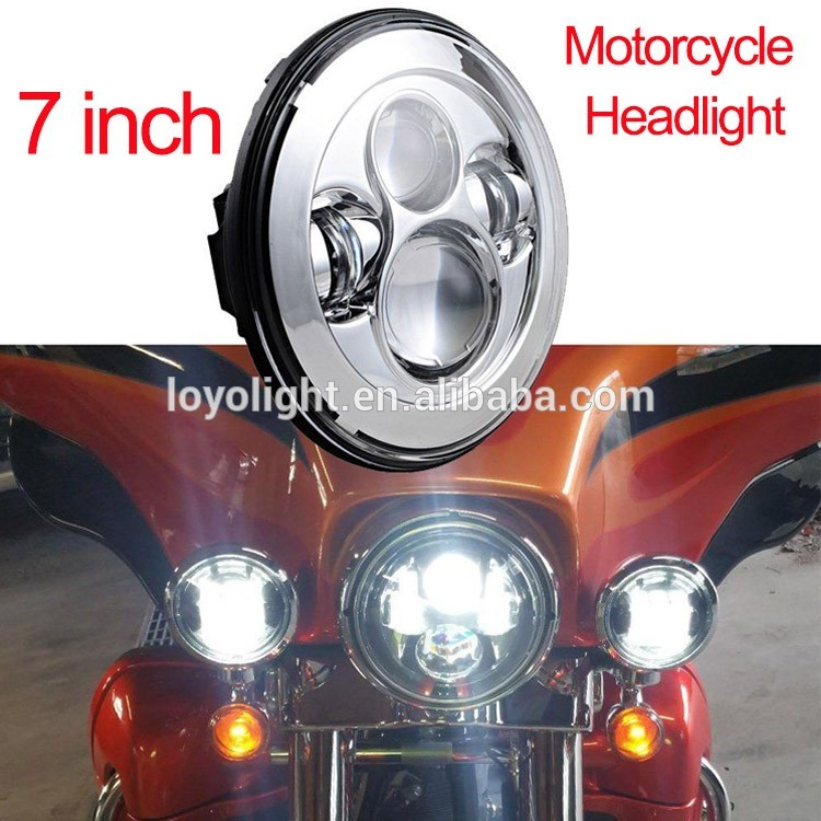 "Super bright 80W 5.75"" motorcycle led head lamp 5.75 inch led headlight with DRL for Harley Davidson"