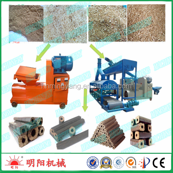 Hot selling sawdust biomass wood brick briquettes machine