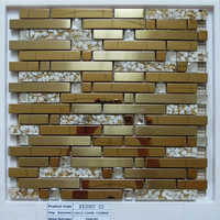 Wholesale Strip Stainless Steel Mix Glass Mosaic