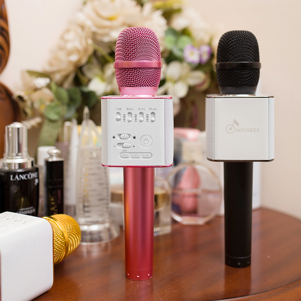 New karaoke microphone bluetooth Q9, q9 bluetooth wireless microphone