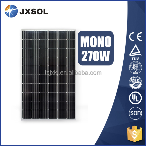 cheap price China manufacture monocrystalline pv model 270w mono solar panel