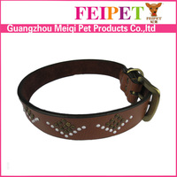 Best cow leather dog collar metal spikes