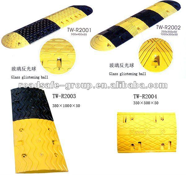 RSG high quality portable speed hump road ruber breaker road hump rubber speed bump