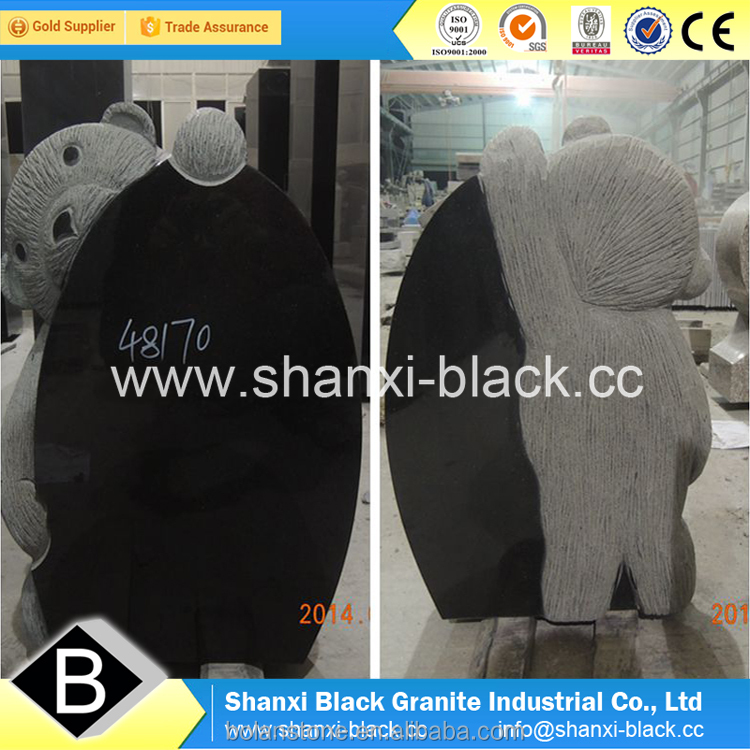 black granite monuments china shanxi black granite monuments tombstone gravestone headstone memorials Ameria USA styles