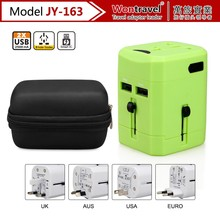 JY-163 Mobile Phone Accessories Universal USB Travel Adapter, 2 USB Charger With CE ROHS FCC Certification
