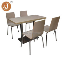 Cheap Curved Plywood Restaurant Dining Table and Chair for Sale