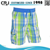 Custom Check Woven Cargo Shorts, Beach Shorts
