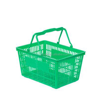 Carry collapsible fashion foldable convenience storage hand new arrivals folding plastic shopping basket