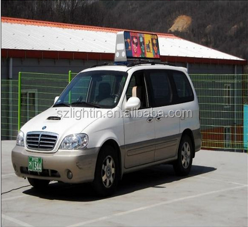 P5 High Brightness Taxi LED Sign Module Taxi Roof LED Advertising Screen 12V Power Supply Waterproof Cabinet