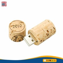 Factory Price Wood Usb Disk 8gb 16gb 32gb Round Wooden Pen Flash Drive
