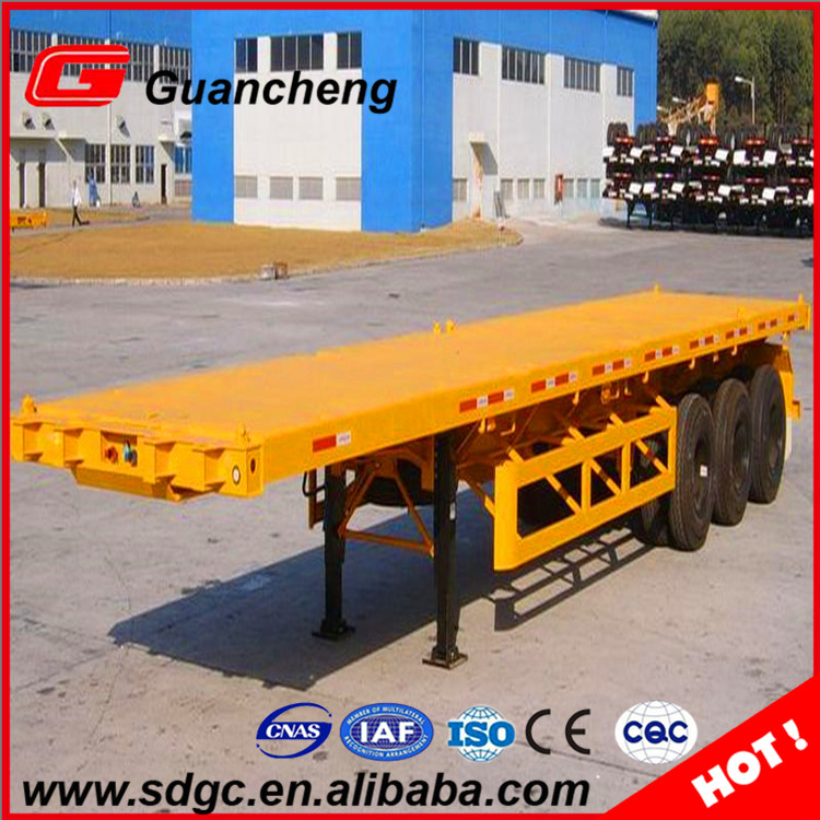 40ft Flatbed Container Transport Semi Trailer Tipper price