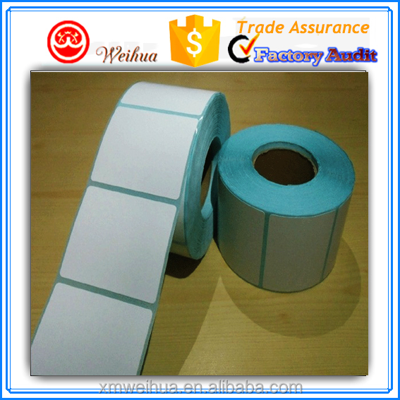 Alibaba Hot sell Single row Removable Thermal paper Blank adhesive roll sticker for packaging label