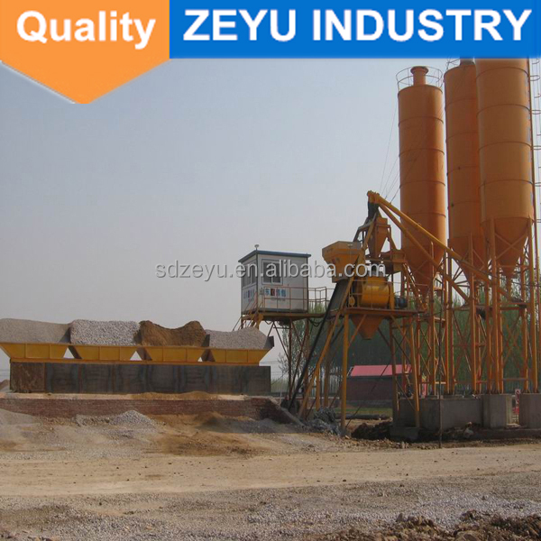 HZS40 concrete batching plant mini china process flow