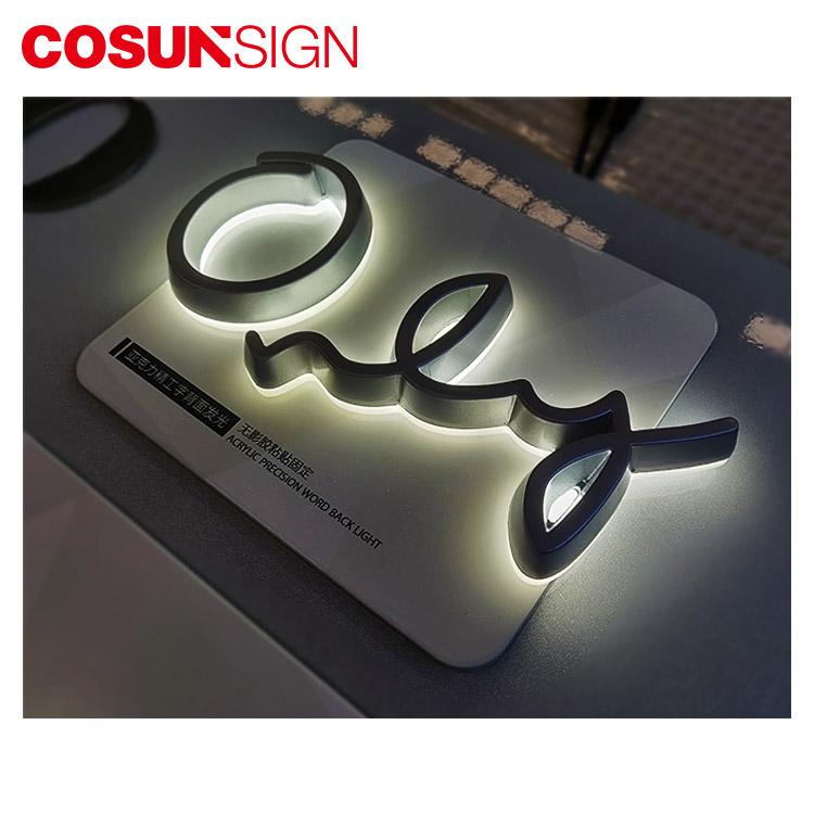 High quality! custom 3d outdoor for company storefront logo backlit half side-lit channel letters