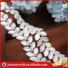 Factory Price Flat Back Beads Banding Rhinestone Chain Plastic Lace Trimming