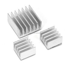 A4988 3D Printer Accessories PCB / PCBA / Power supply / Converters 9*9*5mm Silver Aluminum radiator Heatsink with Glue stick