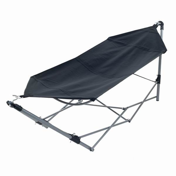 Black color light weight folding portable hammock with stand / with carry bag