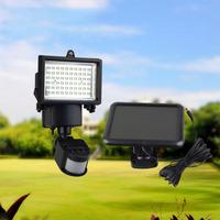 Solar Security Spot Floodlight with PIR Motion Sensor for Garden Backyard Roof Gazebo Landscape Hallway Fountain Garage Square