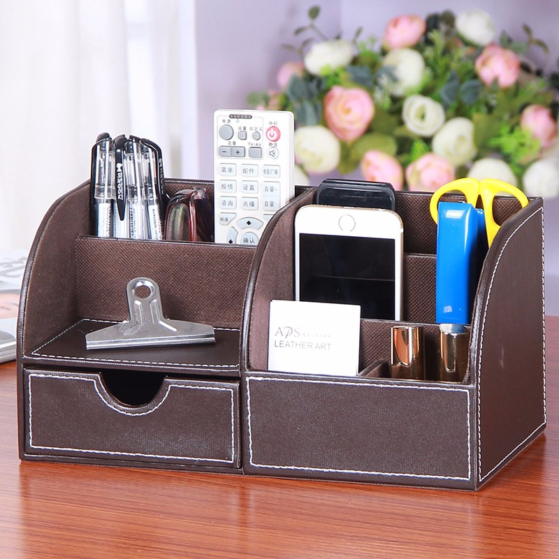 New product medium wood leather credit card holder for office