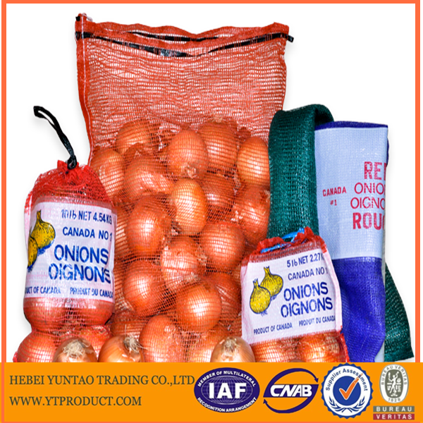 orange onion potatoes vegetable packing PE plastic mesh bag/raschel bag on roll
