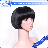 Aliexpress indian remy human hair bob hairstyle wig, low density women wigs for Festival