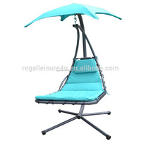 2017 New Design Patio Steel Art Hanging Helicopter Outdoor Garden Swing Chair For Adults