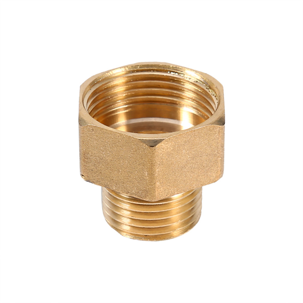 "Brass Pipe Fitting Reducing Bushing <strong>3</strong>/8"" Male NPT* 1/8"" Female NPT Thread"