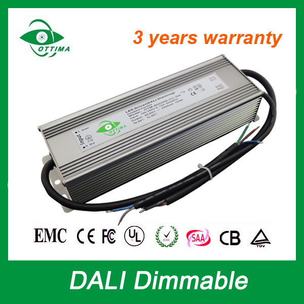 100-265Vac input 25-36Vdc DALI Adjustment Dimming led Dimmable driver Constant Current 6500Ma Led Driver