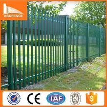 Factory price W Section D Section Palisade, galvanized steel picket fence