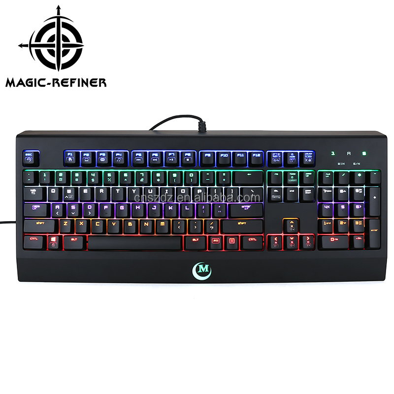 Replaceable 104 Keys Aluminum Mechanical Gaming Keyboard