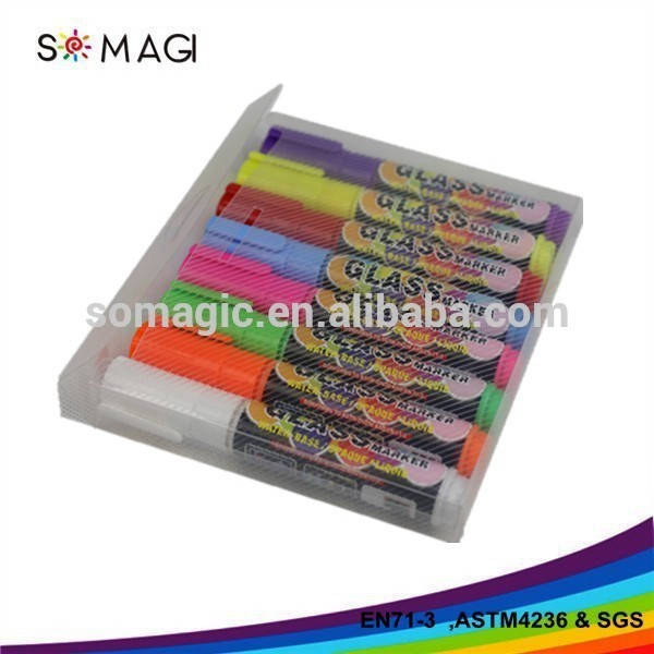 8pcs Multicolor Highlighter Fluorescent Liquid Chalk Marker Pen for LED Writing Board - 8mm