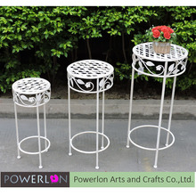 Customized 3/S Round Iron Flower Pot Stand, Indoor Plant Supports