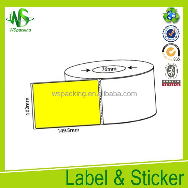 Customed rolled label blank sticker label