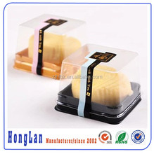disposable blister cake package clear plastic clamshell rectangular containers cake box